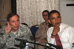 David Patraeus en Barack Obama