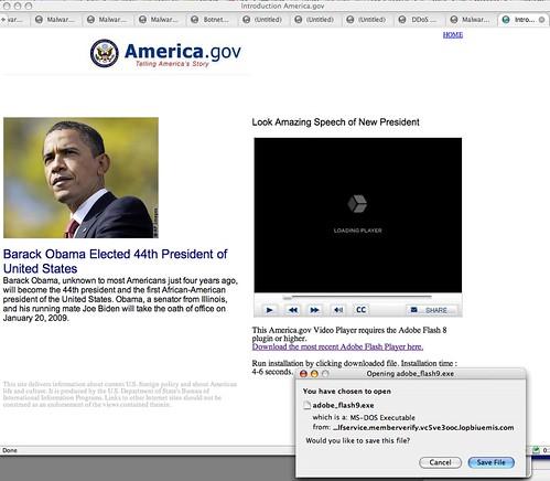 Obama Malcode Spam