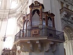 Organ at transept of Salzburg Cathedral