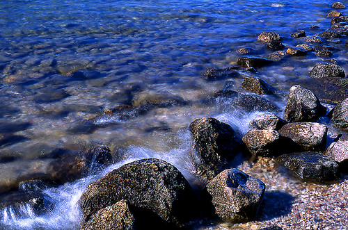 Rocks, Jenny Lake, Grand Teton National Park, Wyoming. (Fuji Provia 100F. Nikon F100. Epson V500.)