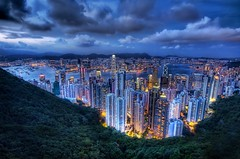 The Megopolis Hong Kong - What Happens Around Dusk (Stuck in Customs) Tags: china city travel light beautiful clouds work hongkong downtown power dusk chinese d2x adventure hong kong valley metropolis nightlife portfolio kowloon hdr tutorial travelphotography hdrtutorial stuckincustoms treyratcliff megopolis
