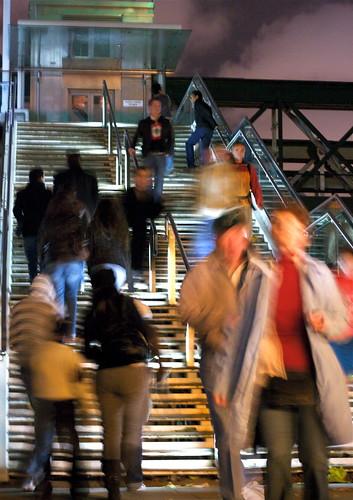 London steps by Night