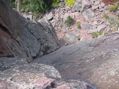 Summit of Whale's Tail looking down West Dihedral (5.4)
