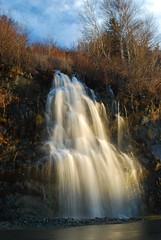 Waterfall beside road (visual guy) Tags: road sky water waterfall blurry nikon dusk handheld southside 4m views100 1215ft
