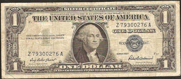 1 dollar USA 1957, P419 - VF-F