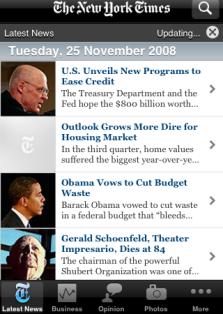 NYT iPhone app