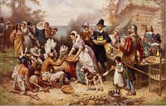 First Fun Thanksgiving, after J.L.G. Ferris (Mike Licht, NotionsCapital.com) Tags: thanksgiving food art history beer painting holidays ferris pizza vegetarian parody indians thanksgivingdinner nativeamericans pilgrims americanhistory firstthanksgiving historicalpainting mikelicht jeanleongeromeferris notionscapitalcom jlgferris