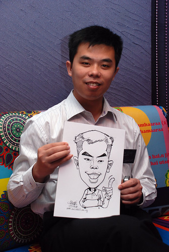 Caricature live sketching for Dow Jones 12