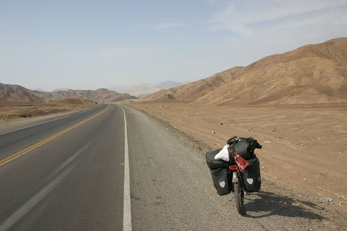 The Lonely Ride, south of Casma, Peru.