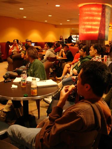 Poerty night in Crossroads Cafe