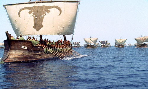 1000 Greek ships sail for Troy
