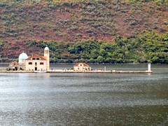 mosque on island (Carpe Feline) Tags: lighthouse mountains coast europe minaret islam mosque montenegro kotor fijord adriaic montene carpefeline balkins mountainousterrain