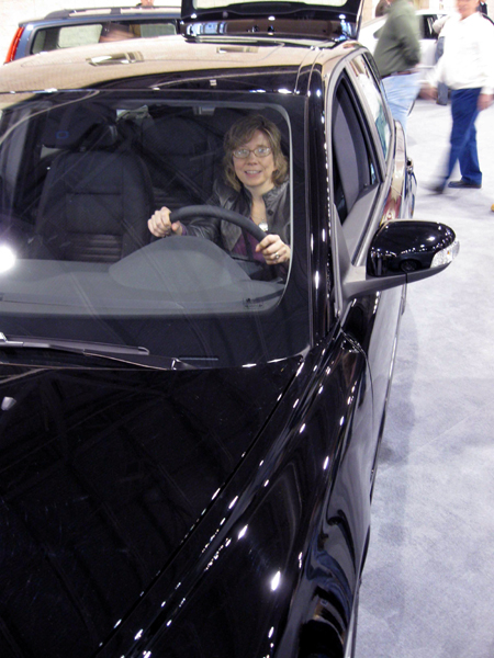 Alyce Test Drives a Car (Click to enlarge)