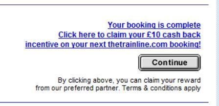 Trainline - discount offer link