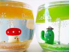 Using sign language? (Jen44) Tags: cactus orange color cute green mushroom glass yellow happy japanese colorful candle clear kawaii transparent decor gel gelcandle decole decolello
