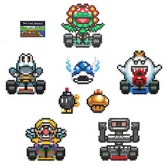The Lost Racers - Mario Kart (Arcade Art) Tags: show nerd car vintage beads tv team geek nintendo sprite mario gaming gamer kart hama perler snes racer