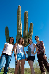 The CU-WISE women - me + cactus at GHC09