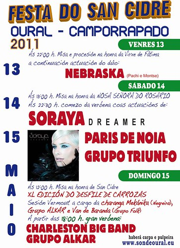 Boqueixón 2011 - Festa do San Cidre en Oural - Camporrapado - cartel
