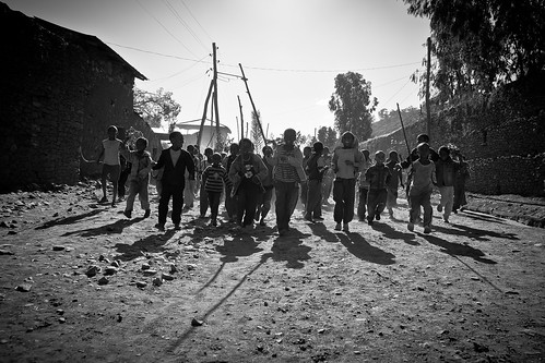 children welcomed Jesus by spreading palm-axum-etiopia by ronnyreportage