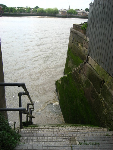 Steps to the river