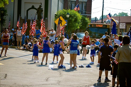 Memorial Day Parade 2011:  Cheerleaders.