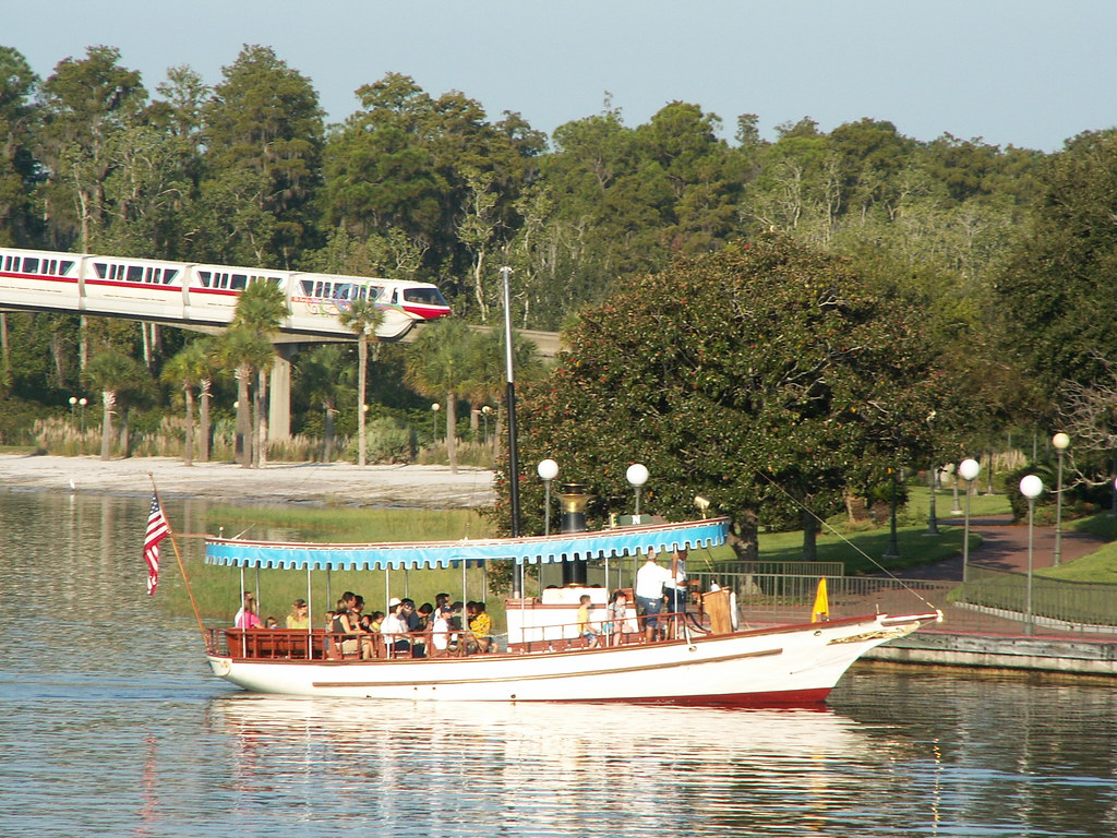 Motor Launch  Navigator & Monorail Red at the Magic Kingdom