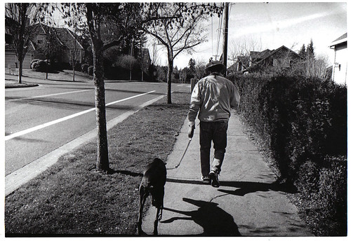 stranger and dog