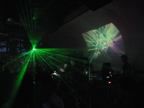 Lasers in back room at Fair Club