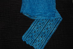 Mist Lace Scarf-blocked