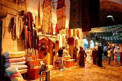 Aleppo Old City, Clothing Bazar (friend_faraway *) Tags: food shopping souvenirs clothing market hijab syria marketplace bazaar niqab bazar aleppo halab 5photosaday top20travelpix