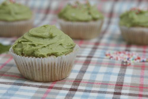 Cupcake amandes & matcha