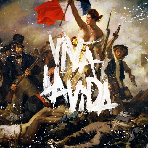 "Found this cool pic of Coldplay's upcoming ""Viva La Vida"" album cover"