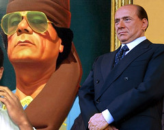 Silvio Berlusconi e Gheddafi (rogimmi) Tags: italia milano silvioberlusconi libia ghaddafi gheddafi