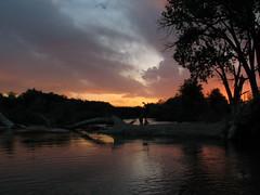 Sunset on the Arkansas (Wavy1) Tags: park city sunset water river colorado dam pueblo trail arkansas cottonwoods treatment pfogold thatwaterisstilldamncold
