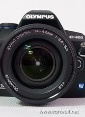 Olympus e-420 with Zuiko 14-42mm ED Kit Lens