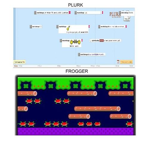 plurk vs frogger