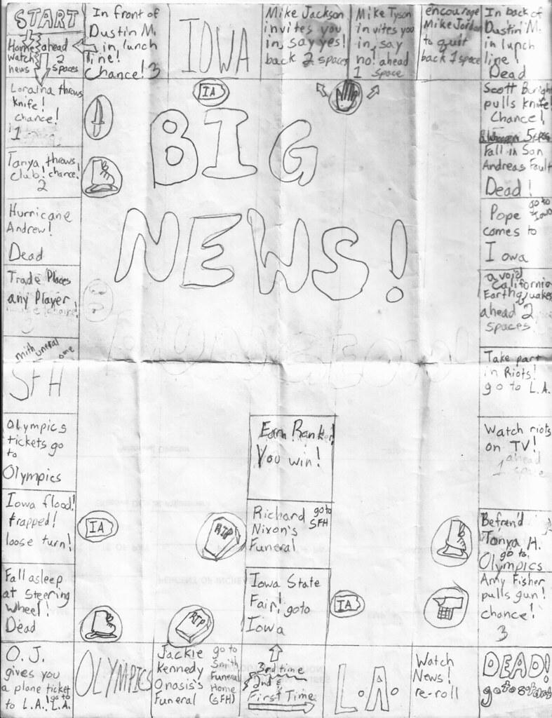 """""""Big News!"""" Game Board"""