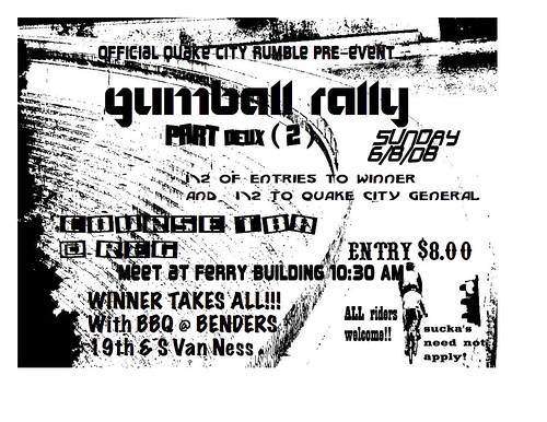 Gumball Rally Flier