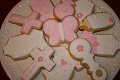 Baptism Cookie Favours (irresistibledesserts) Tags: baby girl cookie baptism christening