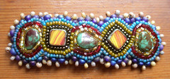 My First Picot Stitch! (ovenfried_beads) Tags: hair beads beaded barrette seedbeads picot beadembroidery ovenfriedbeads