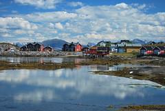 Lovund (krycheka) Tags: reflection norway clouds island norge fabulous kindofblue norwegia lovund nikond60 challengeyouwinner