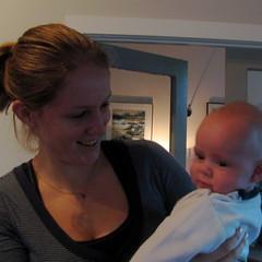 Aunty Sophie gets a cuddle (beccaplusmolly) Tags: jacob sophie nephew aunty