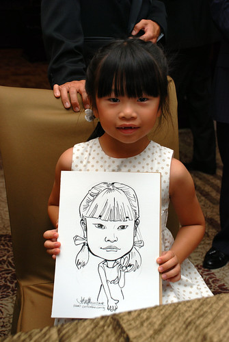 caricature live sketching for wedding dinner 120708  - 34