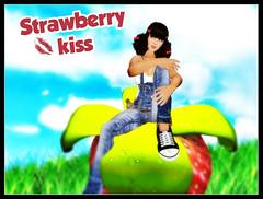 Strawberry kiss (Rinka Watanabe) Tags: life strawberry avatar sl secondlife second