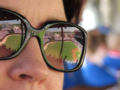blue portrait chicago black reflection face field sunglasses geotagged nose glasses frames dof baseball stadium dreams giants cubs wrigley 2008 infield stands outfield geo:lat=4194765881165604 geo:lon=876551426183853