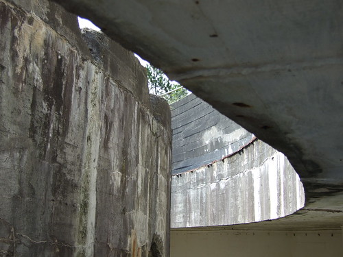 Concrete structure in the bunker at Hanstholm