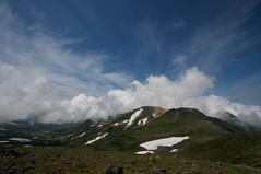 雲が湧き始めた比布岳