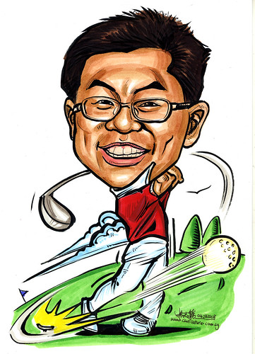 Caricature for  Sembcorp - golfer
