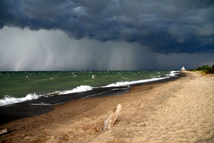 Storm at the beach.....
