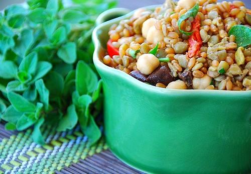 Mediterranean Wheatberry Lentil Salad
